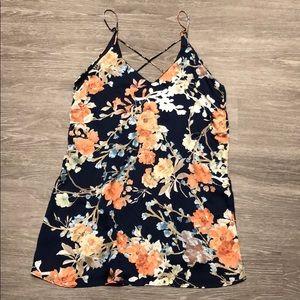 Lulu's Floral Strappy Mini Dress